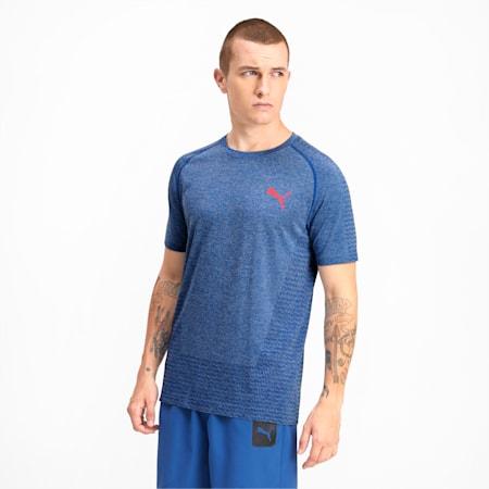 Tec Sports evoKNIT Men's Basic Tee, Galaxy Blue, small-IND
