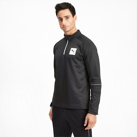 Tec Men's Half Zip Pullover, Puma Black, small