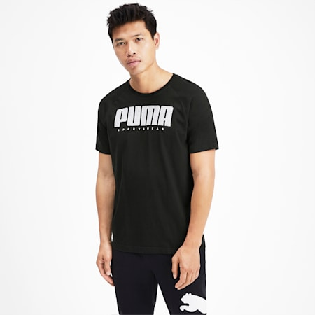 Athletics Men's Tee, Puma Black, small-SEA