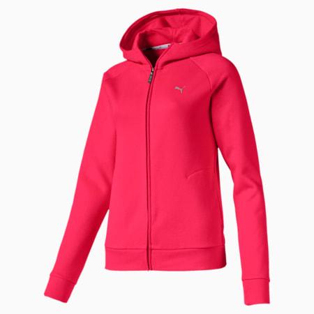 Sudadera de polar con capucha y cierre completo Athletics para mujer, Nrgy Rose, pequeño
