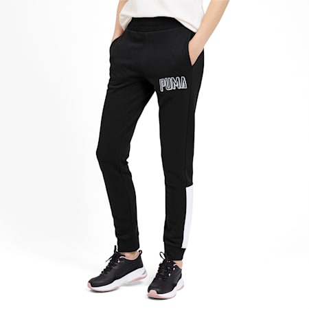 Knitted Women's Training Sweatpants, Puma Black, small-IND