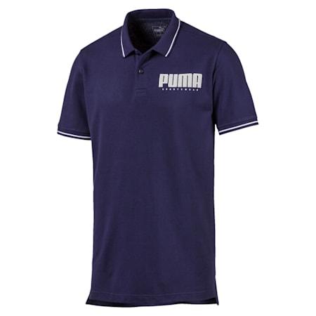 Athletics Men's Polo Shirt, Peacoat, small-IND