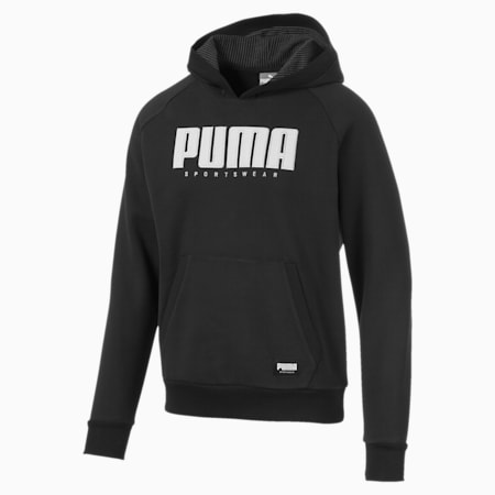Athletics Men's Fleece Hoodie, Puma Black, small