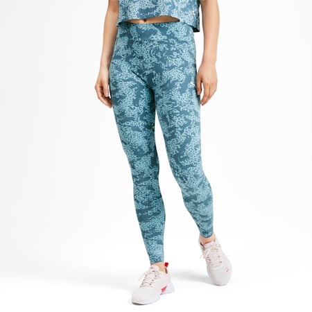 Elevated Essentials All-Over Print Women's Leggings, Bluestone, small-IND
