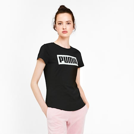 Graphic Logo Women's Tee, Puma Black, small-IND