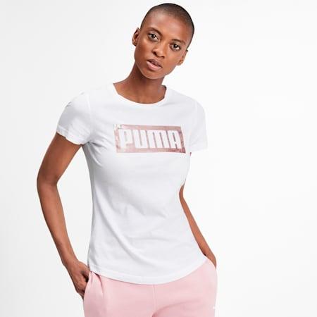 Graphic Logo Women's Tee, Puma White, small