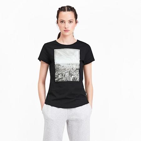 Graphic Photoprint Women's Tee, Puma Black, small-IND
