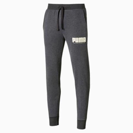 Athletics Men's Fleece Pants, Dark Gray Heather, small