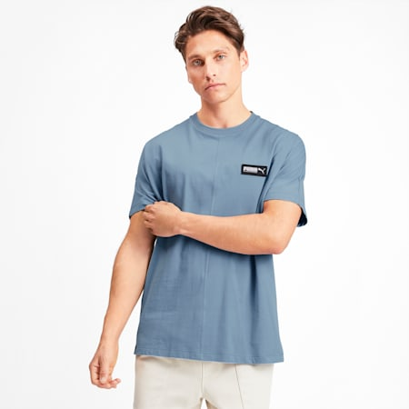 Fusion Herren T-Shirt, Faded Denim, small
