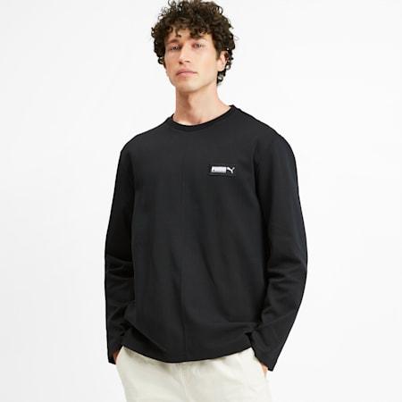Fusion sweater met ronde hals voor heren, Puma Black, small
