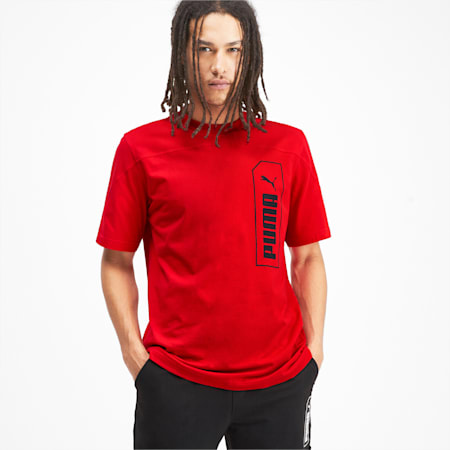 NU-TILITY Graphic Men's Tee, High Risk Red, small-IND