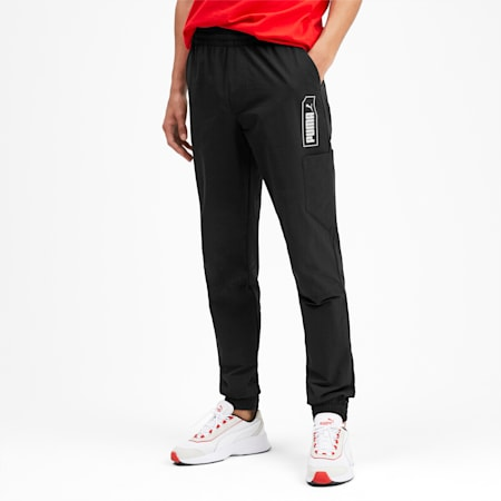NU-TILITY Woven Men's Sweatpants, Puma Black, small-SEA