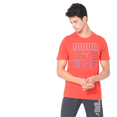 Brand Graphic Men's Tee, High Risk Red, small-IND
