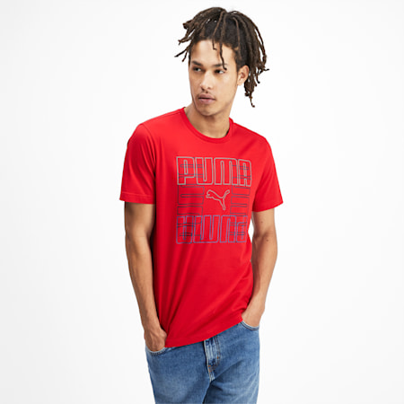 PUMA Brand Graphic Men's Tee, High Risk Red, small