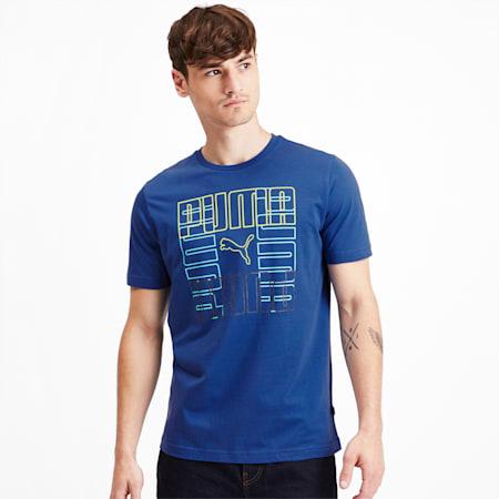 Brand Graphic Men's Tee, Galaxy Blue, small-SEA