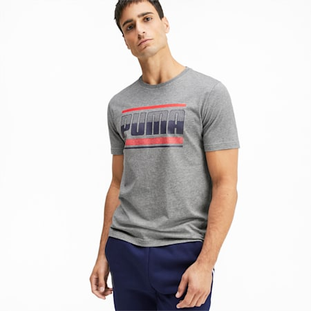 PUMA Graphic Men's Tee, Medium Gray Heather, small