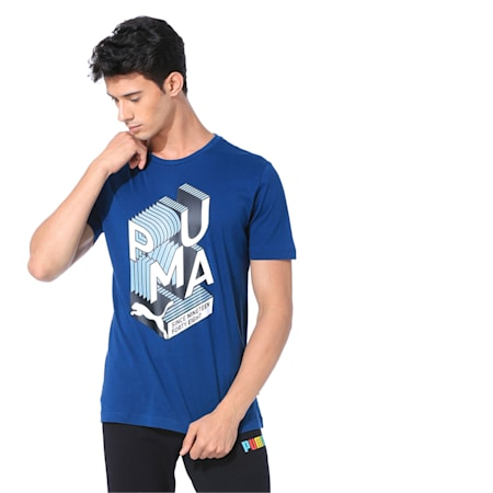 Men's Graphic Effect Tee, Gibraltar Sea, small-IND