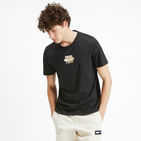 PUMA Gold Graphic Men's Tee, Puma Black, small-SEA