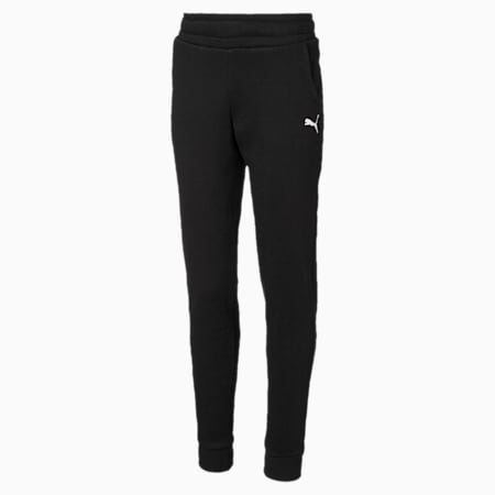 Alpha Girls' Sweatpants, Puma Black, small-IND