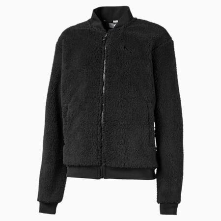 Alpha Girls' Sherpa Jacket JR, Puma Black, small