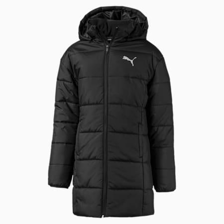 Style Girls' Padded Jacket, Puma Black, small