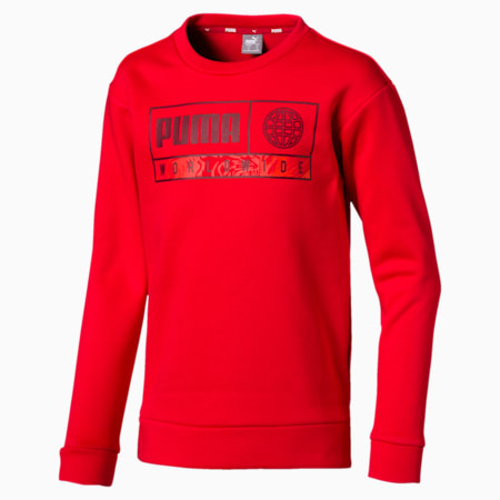 Boys' Alpha Graphic Crew, High Risk Red, small-IND