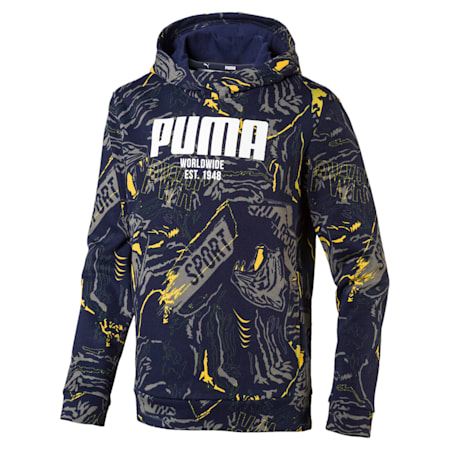 Boys' Alpha Hoodie, Peacoat, small-IND