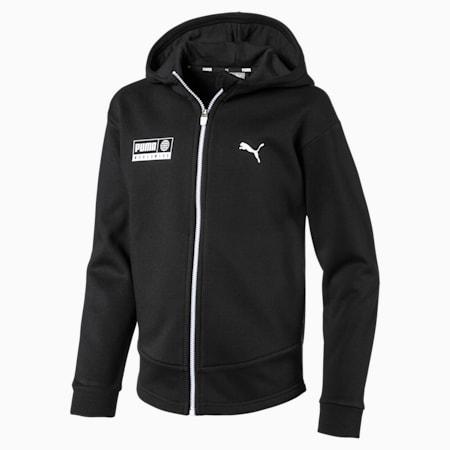 Men's Alpha Graphic Sweat Jacket, Puma Black, small-IND