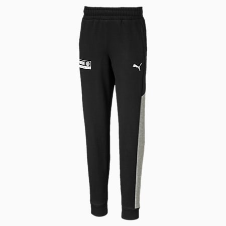 Alpha Knitted Boys' Sweatpants, Puma Black, small-IND