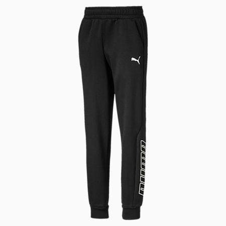 Alpha Boys' Sweatpants, Puma Black, small-IND