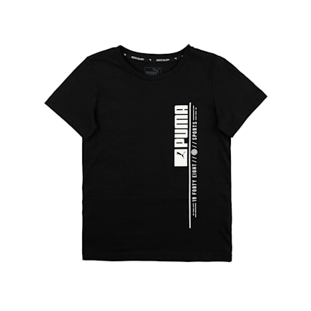 Active Sports Graphic Boys' Tee, Puma Black, small-IND