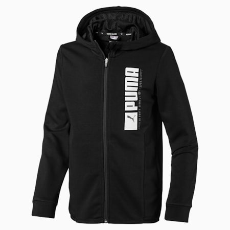 Active Sports Hooded Jacket, Puma Black, small-IND