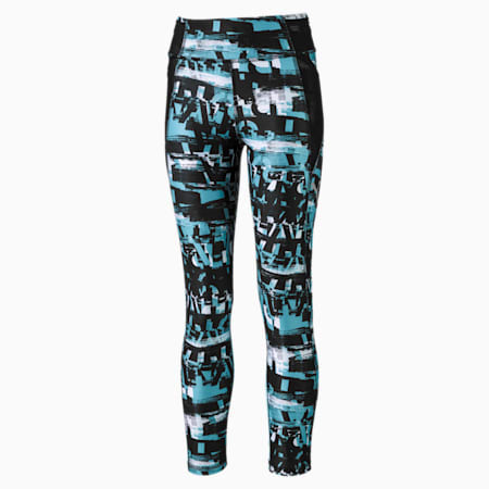 Runtrain 7/8 Girls' Leggings, Milky Blue, small-IND
