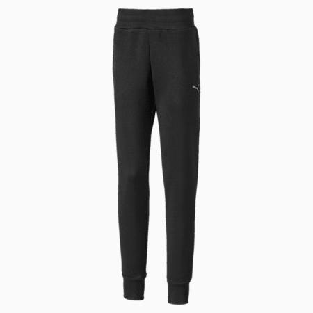 Girls' Sweatpants, Puma Black, small-IND