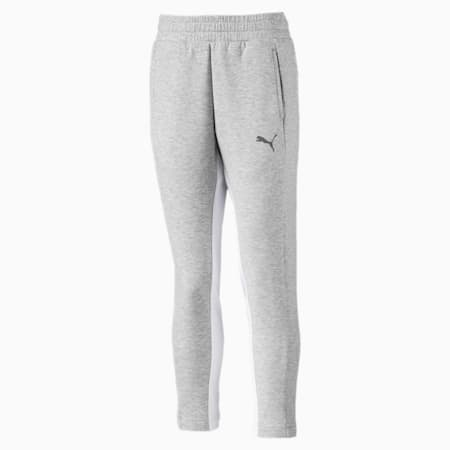 Evostripe Girls' Sweatpants, Light Gray Heather, small