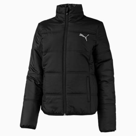 Essentials Mädchen Gefütterte Jacke, Puma Black, small