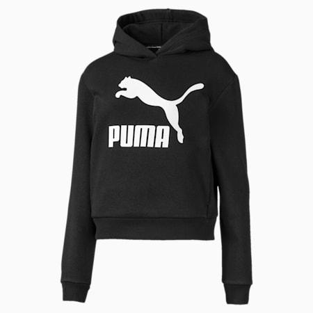 Classics Logo Girls' Hoodie, Puma Black, small