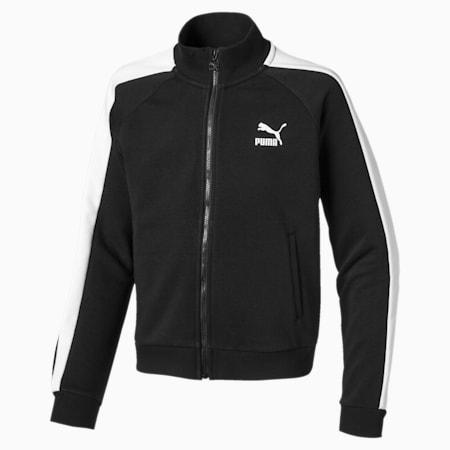 Classics T7 Girls' Sweat Jacket, Puma Black, small-IND
