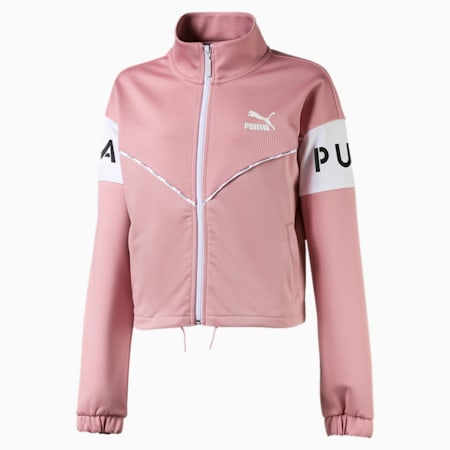 PUMA XTG Mädchen Trainingsjacke, Bridal Rose, small