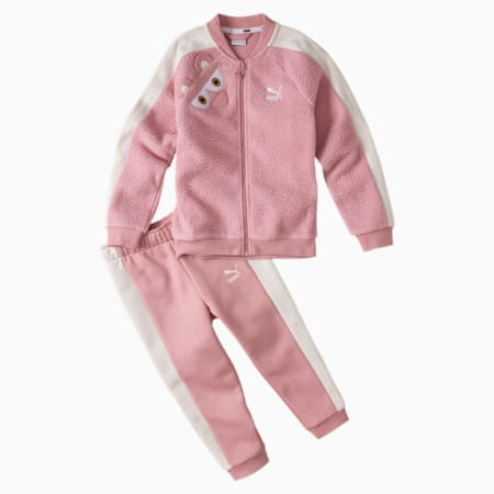 Monster Kids' Jog Suit, Bridal Rose, small