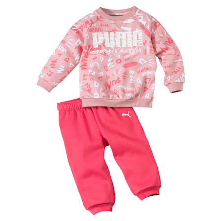 Minicats Babies' All-Over Print Jogger Set, Bridal Rose, small-IND