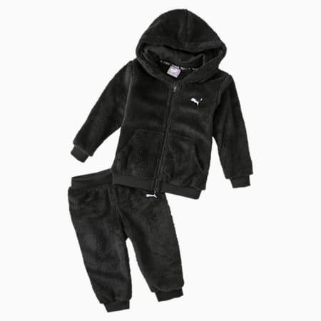 Ensemble de survêtement en sherpa Minicats, nouveau-né, coton noir, petit