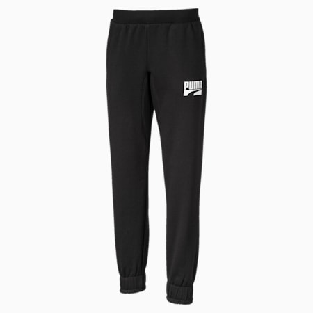 Knitted Boys' Rebel Sweatpants, Puma Black, small-IND