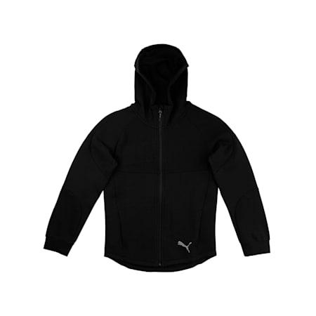 Evostripe Hooded Boys' Sweat Jacket, Puma Black, small-IND
