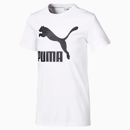 キッズ クラシック ロゴ Tシャツ 半袖 104-152cm, Puma White, small-JPN