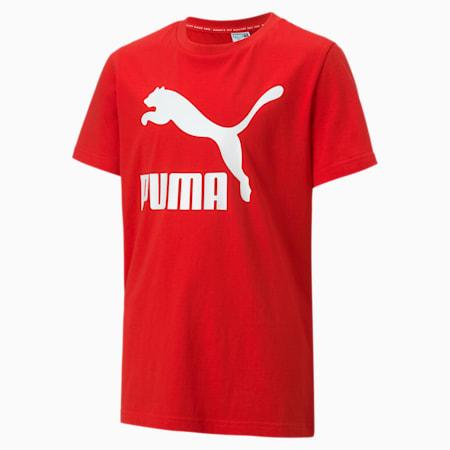 キッズ クラシック ロゴ Tシャツ 半袖 104-152cm, High Risk Red, small-JPN