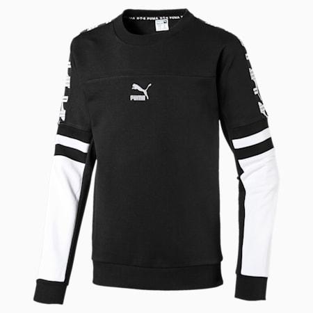 PUMA XTG Boys' Crewneck Sweatshirt JR, Puma Black, small