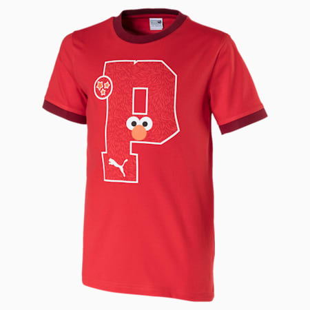 キッズ セサミストリート SS グラフィック Tシャツ (半袖), High Risk Red, small-JPN