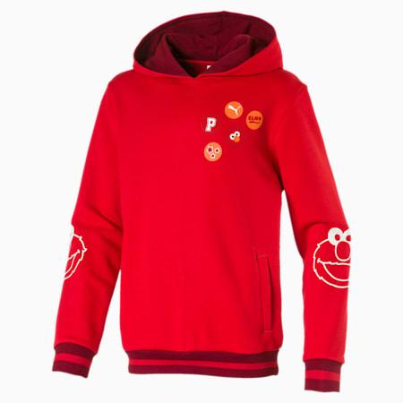 Sudadera con capucha PUMA x SESAME STREET para niño, High Risk Red, pequeño
