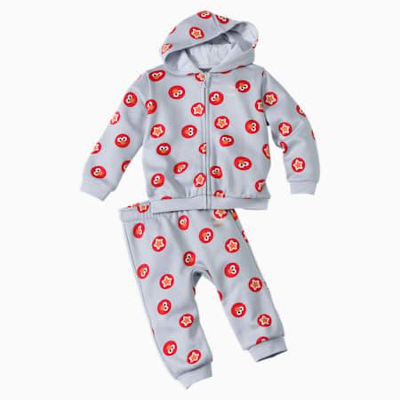 PUMA x SESAME STREET Infant + Toddler Two-Piece Jogger Set, Grey Dawn, small